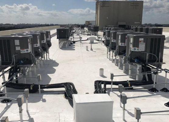 Installation new condenser